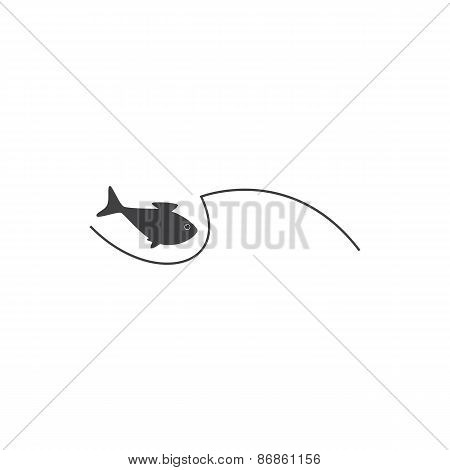 Fish And Wave Logo Template