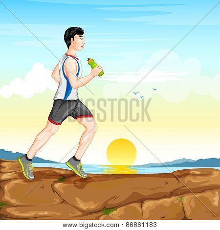 Man jogging for wellness