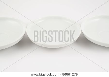 White ceramic plate composition background