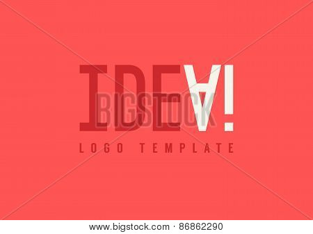 Idea Lettering, Idea Concept, Abstract Idea Logo Template, Brigh