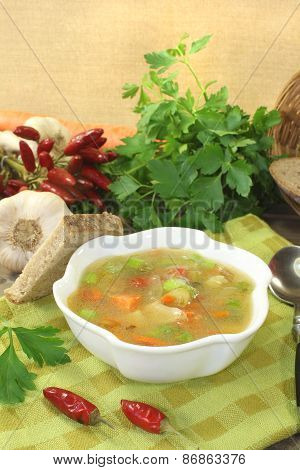 Poultry Consomme With Smooth Parsley