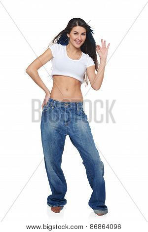 Girl showing OK sign