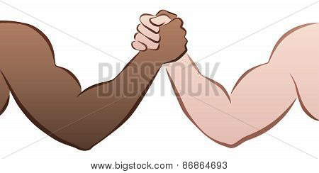 Interracial Arm Wrestling