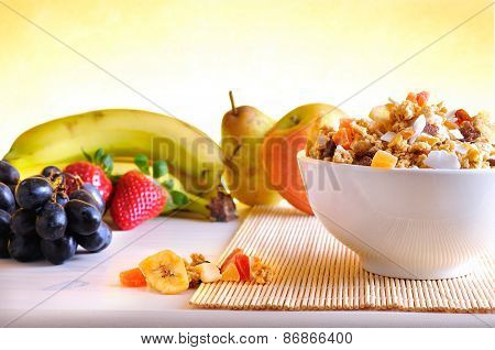 Bowl Of Cereal And Fruits Overview