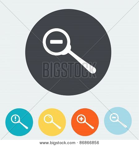 Simple web icon in vector. Zoom out icon. Flat design.