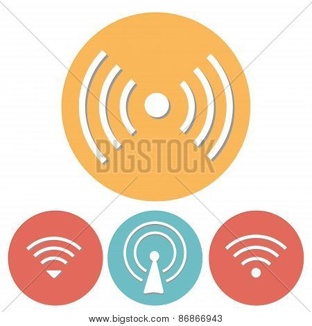 Wi-Fi Icons set of flat design