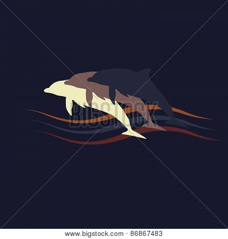 Dolphins silhouette logo