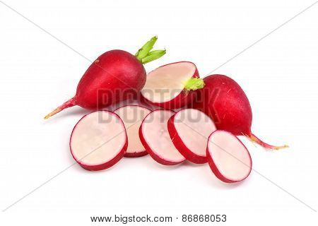A selection of fresh radishes