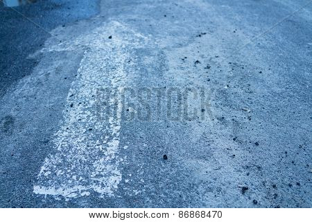 Forward Arrow On The Asphalt