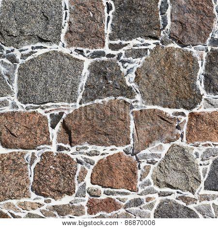 Cobblestone wall fragment texture