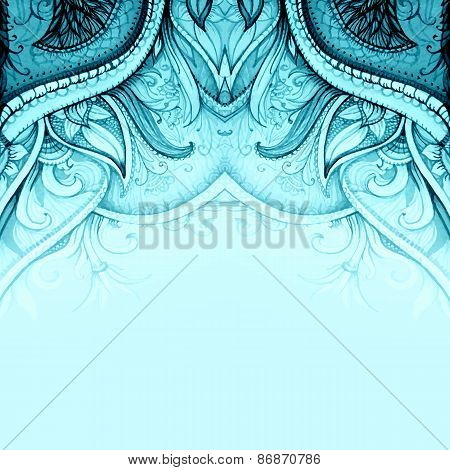Islam, indian, ottoman, moroccan, arabic motifs. Vector wedding