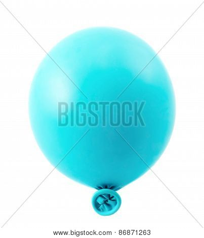 Half-inflated air balloon isolated