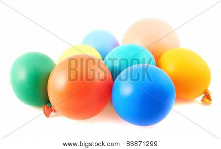 Pile of colorful balloons