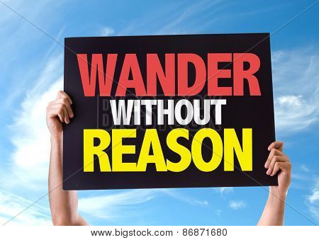 Wander Without Reason card with sky background