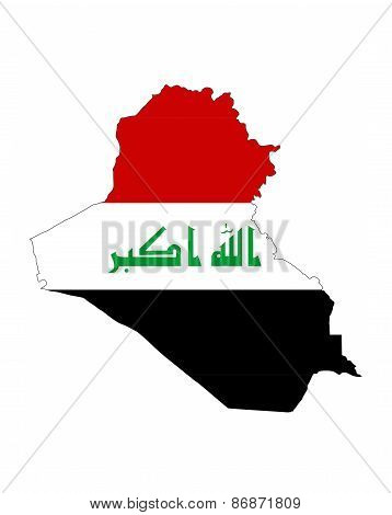 Iraq Flag Map