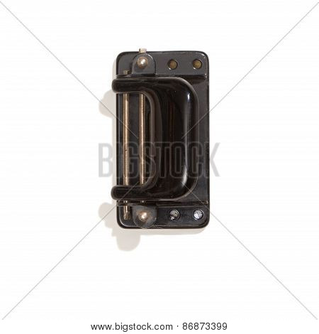 Vintage Perforator, Top View, Isolated On White