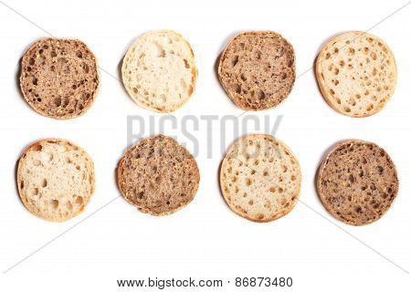 Mix Of Italian Style Bread Rolls, Wholemeal And Regular