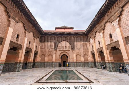 The Ali Ben Youssef Madrassa In Marrakech, Morocco