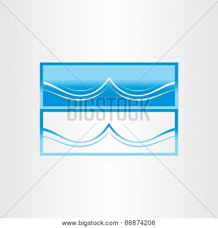 Sea Wave Abstract Icon Design