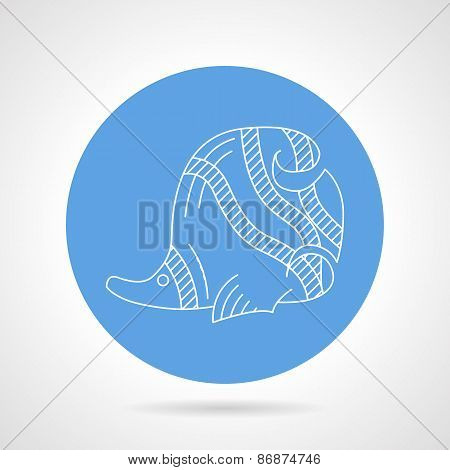 Blue vector icon for sea fish