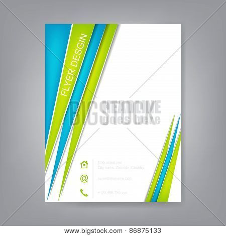 Abstract flyer or brochure template, editable vector design
