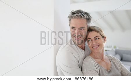 Portrait of mature couple looking toward the future
