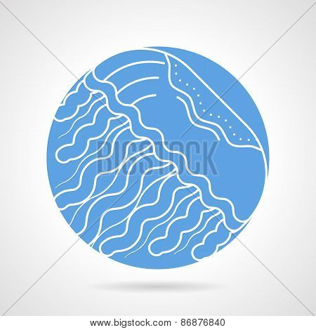 Jellyfish round vector icon