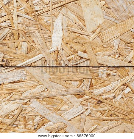 Surface made of pressed wood shavings