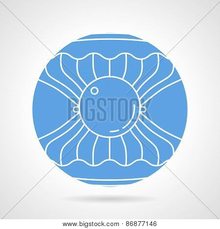 Scallop round vector icon