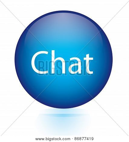 Chat blue circular button