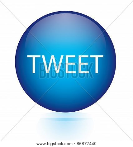 Tweet blue circular button