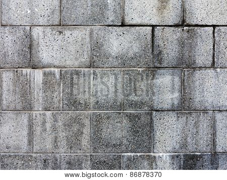 Background Wall Tiles On The Front Wall Of The Building