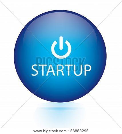 Start up blue button