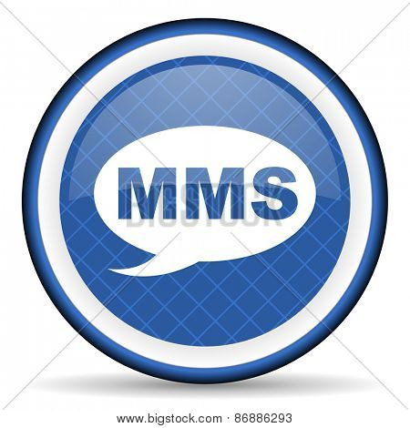 mms blue icon message sign