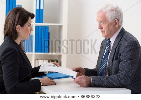 Scared Woman During Job Interview