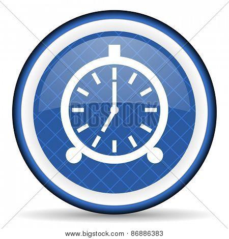alarm blue icon alarm clock sign