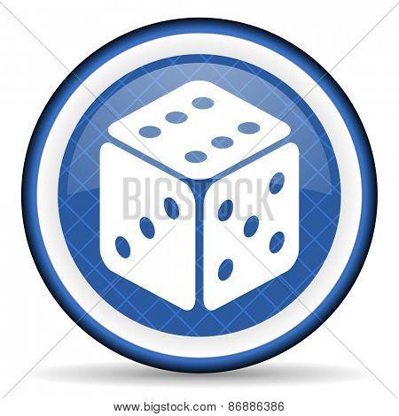 casino blue icon hazard sign