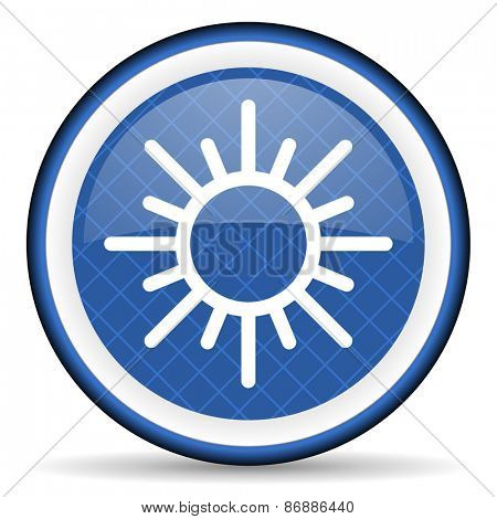 sun blue icon waether forecast sign