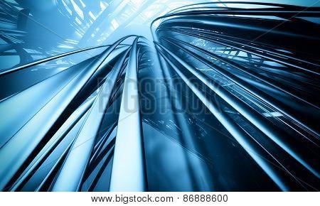 3D futuristic matrix background