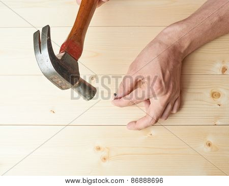 Hammering the nail composition
