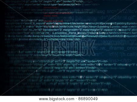 Blue Abstract Background of program web code