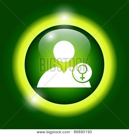 User Icon Vector Female Sign