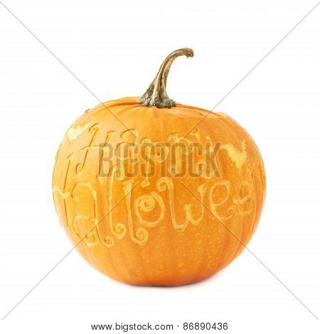 Happy Halloween pumpkin isolated