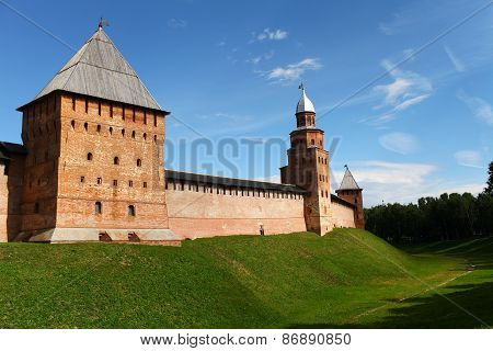 fortress wall of the Novgorod Kremlin