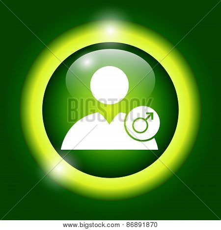 User Icon Vector Male Sign
