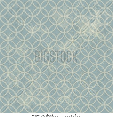 Seamless Vintage Retro Pattern. With Grunge Textured Background.