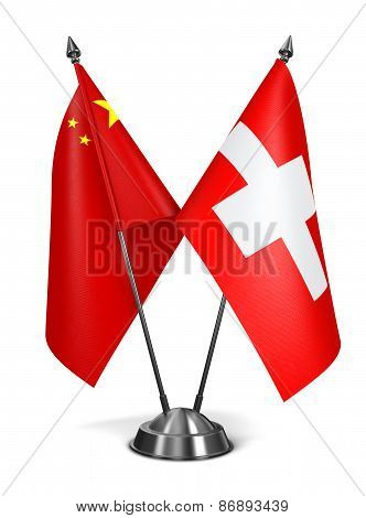 China and Switzerland - Miniature Flags.