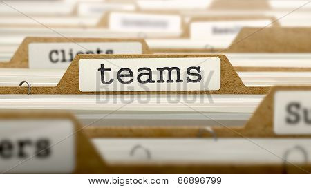 Teams Concept with Word on Folder.