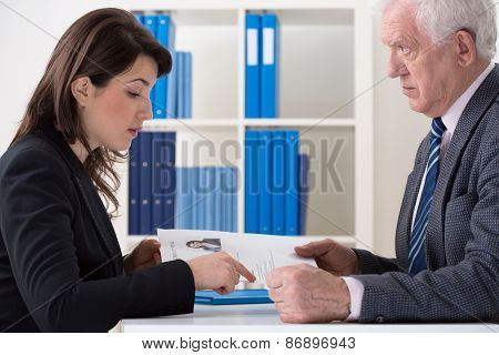 Woman Applying For A Job