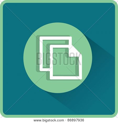 Flat Vector Copy Icon
